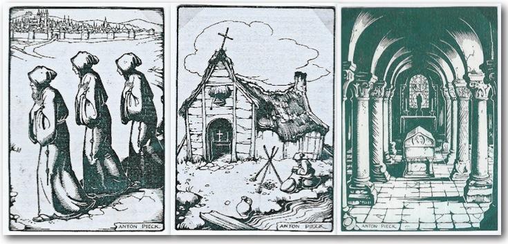 Ailbertus med bröder, kloster och grav.